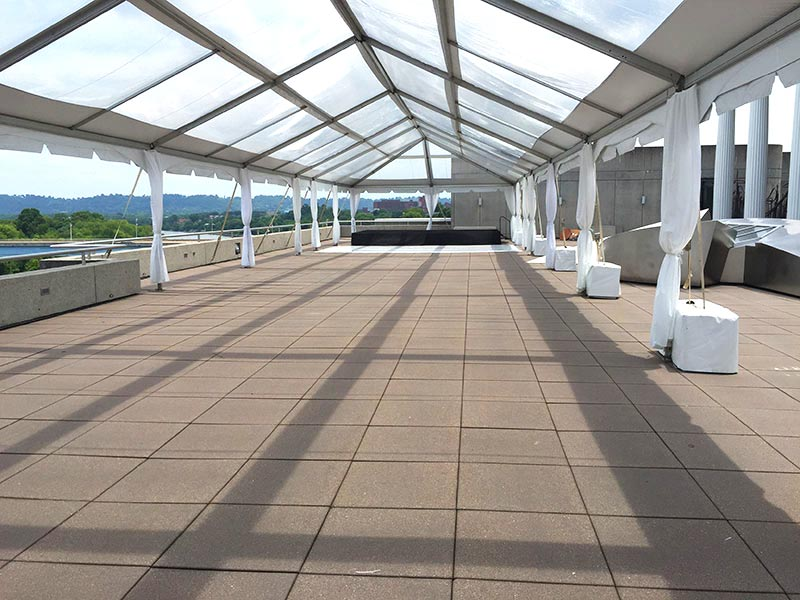 Wedding venue ready to go with help of our tent manufacturers.