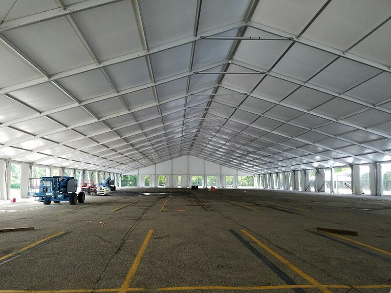 Inside look of how our tent manufacturer venues are set up.