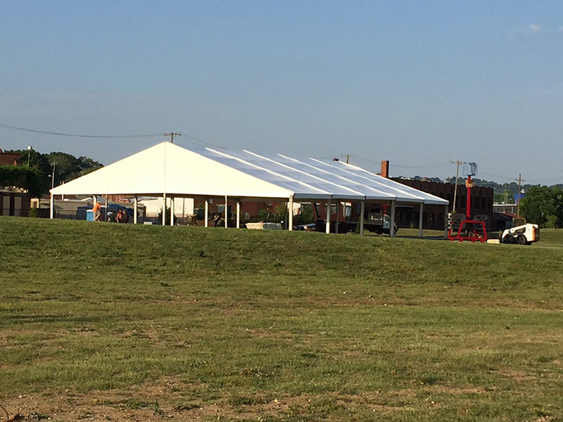 Venue tent by our tent manufacturers seen in the distance.